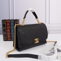New Office Size 16x25x7cm CHANE Double C Women Leather silver and gold on Chain cross body bag Chane vintage Chanl jumbo handbags crossbag shoulder bags