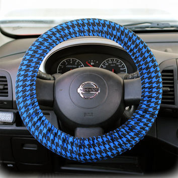 Steering Wheel Cover Bow Wheel Car Accessories Lilly Girls Interior Heated Aztec Tribal Camo Cheetah Sterling Chevron Navy Blue Houndstooth