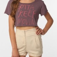 Kill City Gotta Keep Movin' Cropped Tee