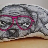 Pug Pillow Friend by jennysherbie on Etsy