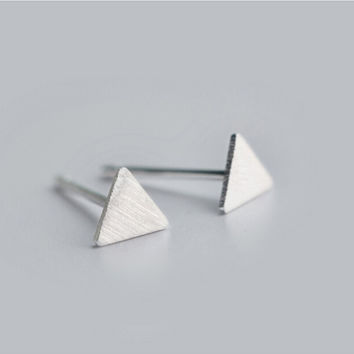 925 Pyramid Stud Earrings