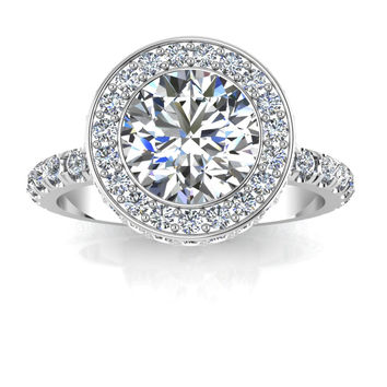 Incredible 4 Carat Engagement Ring 950 Platinum