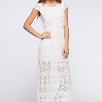 Leave Me Breathless Maxi Dress - Lace Overlay
