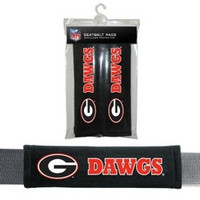 Georgia Bulldogs Velour Seat Belt Pads