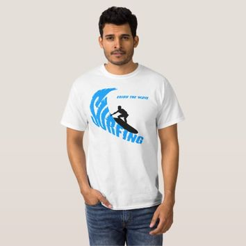 Surfing male custom T-Shirt
