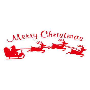 Pastoral Style Christmas Wall Sticker [9356509188]