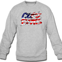 Coke Boys American Flag Crew Neck Sweatshirt