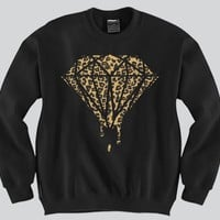 Diamond Cheetah Crewneck Funny and Music