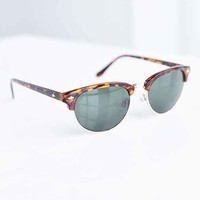 Retro Slim Half-Frame Sunglasses - Brown One