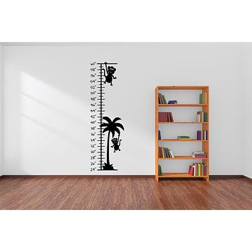 Growth Chart Ruler Decal Jungle Nursery Wall Decal