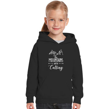 The Mountains Are Calling And I Must Go Kids Hoodie
