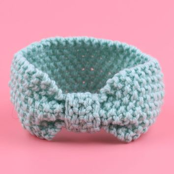 Knitted Baby Turban Ear Warmer Head wrap