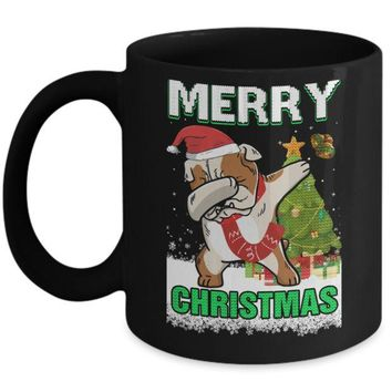 ONETOW Cute Bulldog Claus Merry Christmas Ugly Sweater Mug