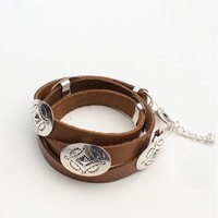 Clothes Online | ARIZONA CONCHO BRACELET - TAN SPELL DESIGNS & THE GYPSY COLLECTIVE - WOMEN - ACCESSORIES - BAZAAR