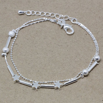 New Arrival Stylish Gift Awesome Hot Sale Great Deal Shiny Korean Matte Vintage Accessory Silver Bracelet [8171778951]