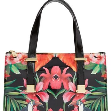 Ted Baker London 'Tropical Toucan' Shopper - Black