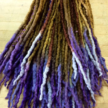 Custom Wool Dreads Handmade Hair Extensions Wool Dreads Ombre Hair Accessories Set of 45