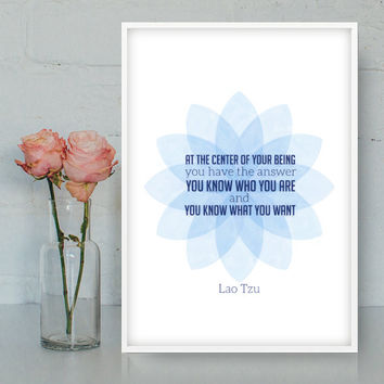 Lao Tzu quote, Printable Wall Art, Wall decor, Inspirational quote, Zen digital poster, Quotes, INSTANT DOWNLOAD.