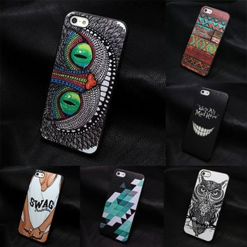 2015 New arrive For Apple iPhone 4 4S 5 5S SE 5C 6 6S 7 Plus 4.7 5.5 case Painted cartoon character Designers Unique Hand grasp
