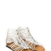 Try Zig Zags Caged Sandals