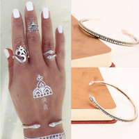 Stylish New Arrival Shiny Jewelry Accessory Strong Character Punk Metal Bangle [7271668103]