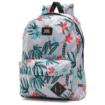 Vans Old Skool II Backpack (Grey Floral)