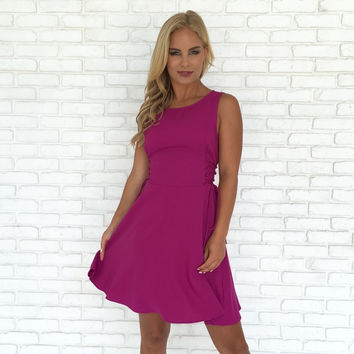 Fabulous in Fuchsia Skater Dress
