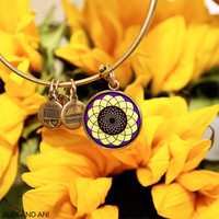 Alex and Ani Sunflower Bangle Rafaelian Gold