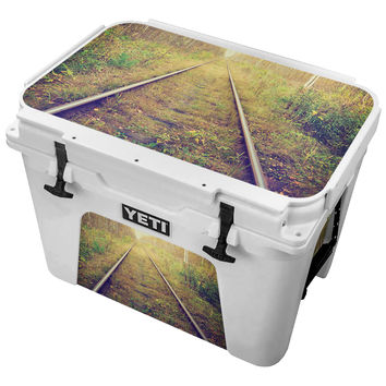 Abandoned Overgrown Traintrack Skin for the Yeti Tundra Cooler