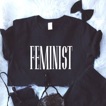 Feminist Shirt in Black Feminism Tee