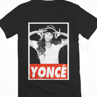 Beyonce yonce obey style Unisex/Men Tshirt All Size