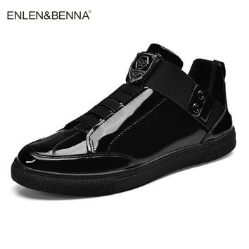 New Arrival 2018 Enlen & Benna High Quality Men's Fashion Men Glossy Sneakers