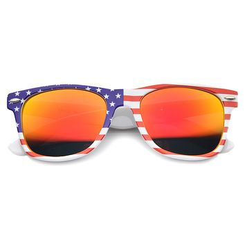 Festival USA Stars & Stripes Mirrored Lens Novelty Sunglasses 9960