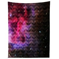 Caleb Troy Tribal Galaxy Elevator Tapestry