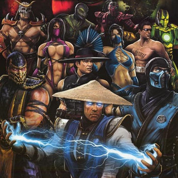 Mortal Kombat Video Game Poster 22x34
