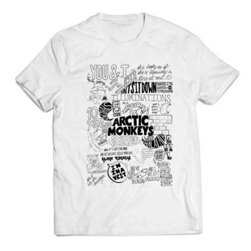 arctic monkeys lyrics collage Clothing T shirt Men
