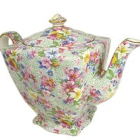 Royal Winton Marion Chintz Ascot Teapot Newer