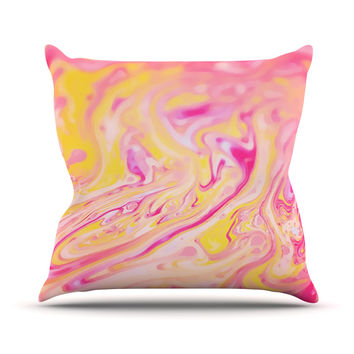"Ingrid Beddoes ""Bubble Gum Pink"" Throw Pillow"