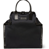 Alexander McQueen - De Manta Leather-Trimmed Woven Tote | MR PORTER