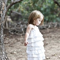 Beautiful Organic White Ruffle DressNB 3m 6m by dressbabybeautiful