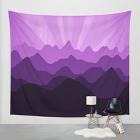 Purple Bliss Wall Tapestry by Colorful Art