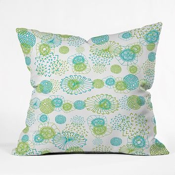 Monika Strigel Winter In My Garden Throw Pillow