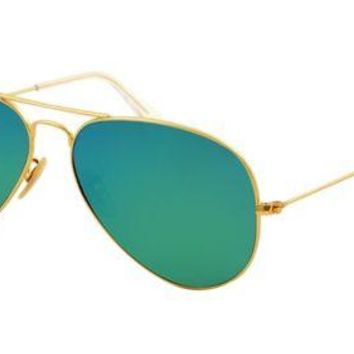Cheap Ray-Ban RB3025 112/19 Gold frame w Green Flash Lens Aviator Sunglasses 58mm outlet