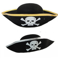 Gold/silver pirates hat Vintage Party Festival Halloween Masquerade Hot sale #03