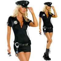 Halloween Costumes For Women Police Cosplay Costume Dress Sex Cop Uniform Sexy Policewomen Costume Outfit Plus size S -2XL