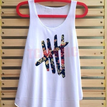 5 five flower flora shirt 5sos Tank top 5 sos loose fit - size S M L