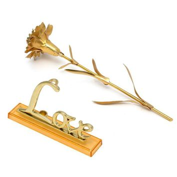 Valentine's Day Rose Artificial 24K Gold Plated golden Mother Day