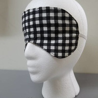 Marilyn - Monroe - gingham  - print - reversible - Sleep - Mask - Eye - Mask - beauty - mask - bridal - mask - bridesmaid - gift