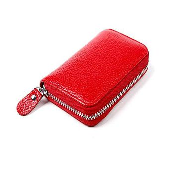 4 Colors Leather ID Holder Credit Card Holder+RFID Blocking Mens Womens ID Credit Card Wallet Leather Card Cases4 Colors 4 Choices