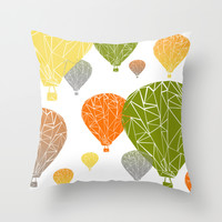 BALLOONS Throw Pillow by ARCHIGRAF